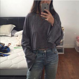 Asos - Oversized Cropped Long Sleeve